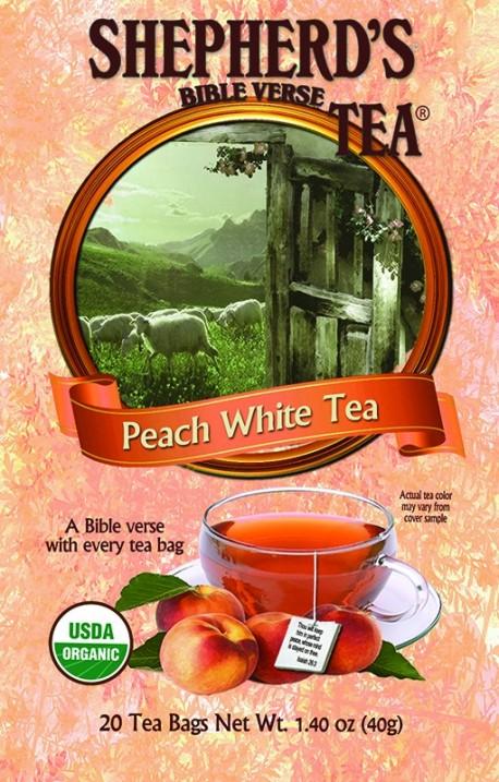 Peach White Bible Verse Tea