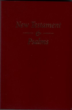 Pocket New Testament and Psalms - BURGUNDY