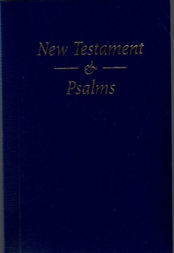 Pocket New Testament and Psalms - NAVY BLUE