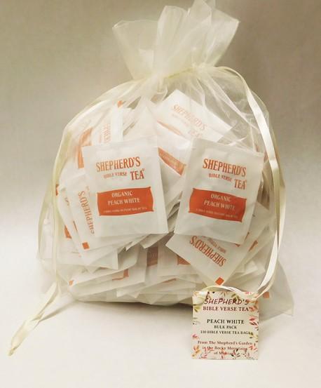 Peach White - Bulk Bible Verse Tea Bags - (100 Bags)