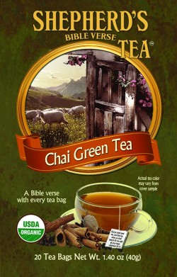 Shepherd's Organic Bible Verse Tea - Chai Green