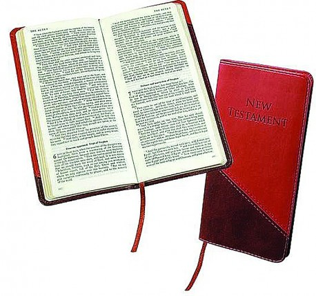 KJV Slimline Pocket New Testament-BURGUNDY