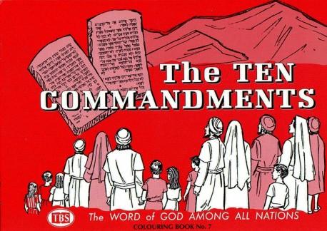 The Ten Commandments Coloring Book 7 - Outline Texts