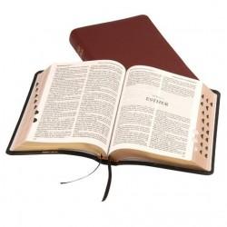 Windsor Text Bible - KJV - Calfskin - Thumb Index - BURGUNDY