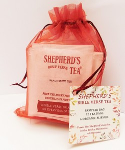 Shepherd's Bible Verse Sampler Bag - 12 Tea Bags