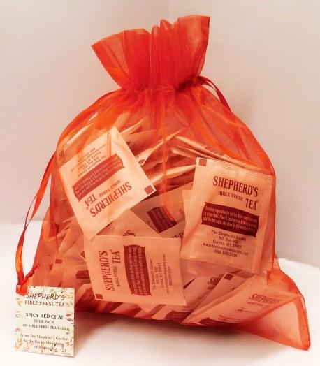 Spicy Red Chai - Bulk Tea Bags (100 Bags)