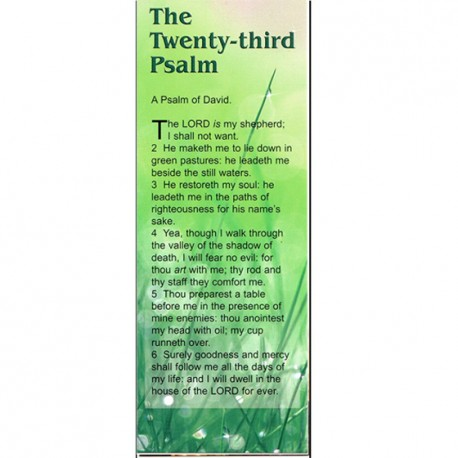 BOOKMARK - Psalm 23