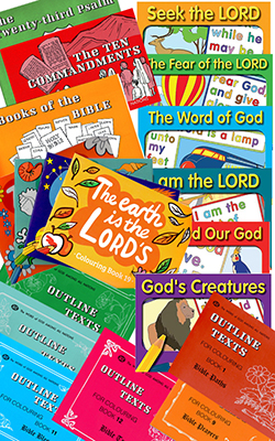 Children's Bible Verse Coloring Book Set - 22 Coloring Books